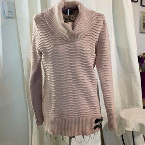 Calvin Klein cowl neck pink ct blend tunic sweater